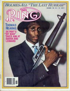 """Thomas """"Hitman"""" Hearns on the December 1980 cover of The Ring boxing magazine."""
