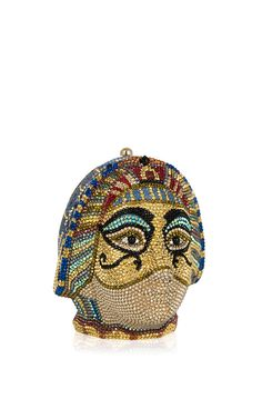 Shop Daughter Of Ptolemy Clutch. This clutch by **Judith Leiber Couture** features the 'Daughter of Ptolemy' minaudiere luxuriously embellished with hand beaded Austrian crystals. Novelty Handbags, Novelty Bags, Vintage Clutch, Vintage Purses, Vintage Bags, American First Ladies, Unique Bags, Judith Leiber, Cute Bags
