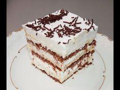 Vanilkový koláč za 10 minut, BEZ PEČENÍ: Jen 3 pudinky, sušenky a šlehačka - více nepotřebujete! - electropiknik.cz Cake Roll Recipes, Kolaci I Torte, Torte Cake, Rolls Recipe, No Bake Cake, Easy Desserts, Vanilla Cake, Baking Recipes, Deserts