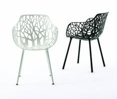 FOREST collection. Armchair black and white / Poltrona nera e bianca. FAST IN_OUT_ALUMINIUM