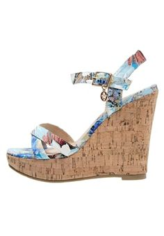 High Heel Sandaletten - azul