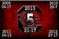 5 in a row against Clemson!