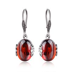 See related links to what you are looking for. Garnet Earrings, Silver Drop Earrings, Women's Earrings, Red Jewelry, Women Jewelry, Love Girlfriend, Red And Blue, Sterling Silver, Stone