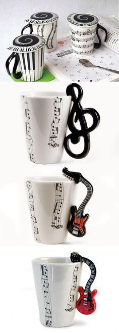 VIOLIN Handled Coffee Mug Sheet music Cup NEW Chamber Orchestra Symphony Musical Coffee Love, Coffee Cups, Coffee Coffee, Happy Coffee, Drinking Coffee, Foto Poster, All About Music, Music Decor, Treble Clef