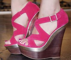 JustFab Dela Wedge Sandal .  Click to Purchase: http://amzn.to/122e8GE