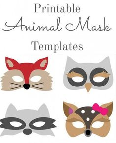 Whether it is as a sleeping mask or as a party mask, these four easy-to-do DIY animal masks are so cute, fun and great for restful sleep. Tutorial includes a free pattern for sewing or gluing.