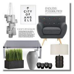 """CONTEMPORARY CHIC"" by adduncan ❤ liked on Polyvore featuring interior, interiors, interior design, home, home decor, interior decorating, Interlude, Crate and Barrel, Eichholtz and BoConcept"