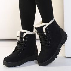 Women Boots Plus Size 44 Snow Boot For Women Winter Shoes Heels Winter Boots Ankle Botas Mujer Warm Plush Insole Shoes Woman - Women Boots Plus Size 44 Snow Boot For Women Winter Shoes Heels Winter Boots Ankle Botas Mujer Warm Plush Insole Shoes Woman Ankle Shoes, Shoe Boots, Shoes Heels, 70s Shoes, Shoes Uk, Baby Shoes, Snow Boots Women, Winter Shoes For Women, Boots For Snow