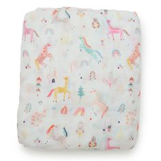 Add a little whimsy to your nursery with this darling unicorn crib sheet. Details + Dimensions: w x l x d Fits a standard crib mattress Cotton + bamboo rayon blend Comes packaged in a reusable, matching drawstring bag Wash in cold water, tumble dry low Crib Mattress, Crib Sheets, Baby Dinosaurs, Little Unicorn, Baby Unicorn, Project Nursery, Nursery Ideas, Nursery Inspiration, Nursery Decor