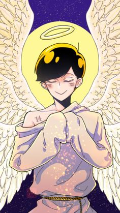 Angel!Jyushimatsu ||| Osomatsu-san AU Fan Art by yimaomao on Tumblr