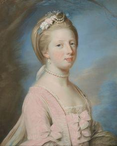 Attributed to Catherine Read (1723-78) - Princess Caroline Matilda (1751-1775)