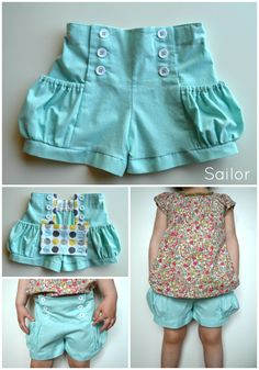 Different waste...but seriously cute  Elegance & Elephants: Bubble Pocket Shorts Pattern