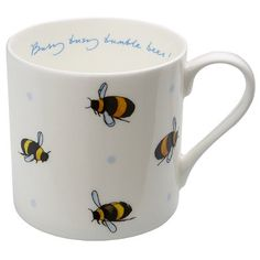 Sophie Allport Busy Bee Mug. I adore this set perfect tea set for busy bees :D Pottery Painting, Ceramic Painting, I Love Bees, Bee Jewelry, Cute Cups, Bee Art, Cool Mugs, Biscuit, Bee Theme
