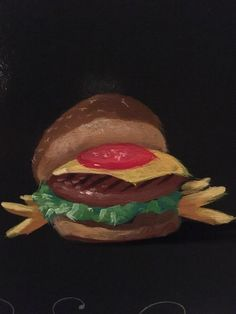Hand painted burger
