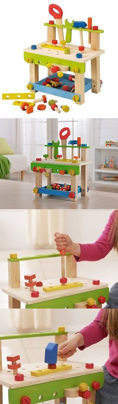 Tool Sets 158747: Kids Toddlers Boys Workbench Tool Set Wooden Pretend Play Work Shop Toolbox -> BUY IT NOW ONLY: $32.05 on eBay!