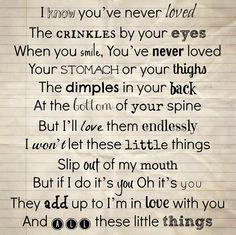 Little Things by One Direction  i am in love with this song.... its sooo sweet and just one of the millions of reasons im a fan!!!