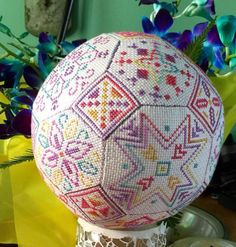 Happy Quaker Ball - beautiful cross stitch chart from seba designs.