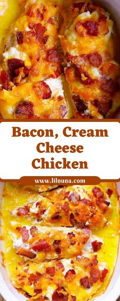 Looking for clean baked chicken recipes? nicely, pass no in addition than this Bacon, Cream Cheese, Cheddar hen! Baked Hen Recipe, Baked Chicken Recipes, Bacon Recipes, Low Carb Recipes, Cooking Recipes, Shrimp Recipes, Cooking Time, Crispy Cheddar Chicken, Cream Cheese Chicken