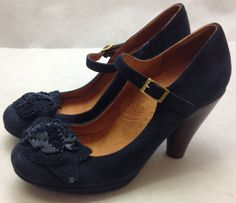 Chie Mihara Arizona navy suede shoes. RRP £275. Size 39 #ChieMihara