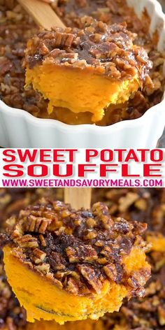 Sweet Potato Recipes, Chicken Recipes, Sweet Potato Souffle, Food Videos, Souffle Recipes, Dinner Recipes, Dessert Recipes, Easy Meals, Appetizers
