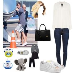 Back to UK with my two boys by emma-horan-73 on Polyvore featuring polyvore, moda, style, Derek Lam, Frame Denim, adidas, Michael Kors, Zara, adidas Originals and Lambs and Ivy