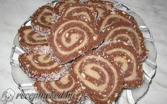 Gesztenyekrémes keksztekercs recept fotóval Waffles, Pancakes, Apple Pie, Rum, Muffin, Goodies, Sweets, Baking, Breakfast
