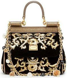 Pre-owned - Velvet clutch bag Dolce & Gabbana BbHhQGw