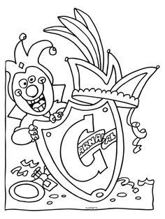 Kleurplaat Steek Prins Carnaval Idee 235 N Over Kleurpagina