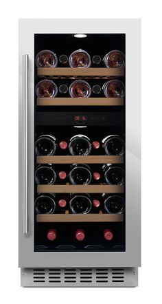 mQuvée built-in wine cooler - WineCave 40D Stainless (W: 38 x H: 86,5/94,5 x…