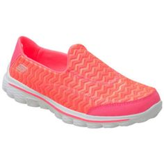 Skechers Go Walk 2 Chevron Orange Orange Sneaker