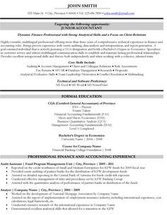 Click Here To Download This Junior Accountant Resume Template! Http://www.  Senior Accountant Resume