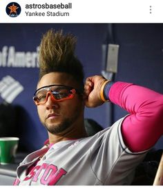 Yuli. La Pina 🍍 Man Haircuts, Astros World Series, New Jersey Devils, Baseball Stuff, Yankee Stadium, Sports Party, Texans, Houston Astros, Tampa Bay