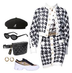 """""""Untitled #355"""" by youraveragestyle ❤ liked on Polyvore featuring Balmain, adidas, Chanel, kangol and Elizabeth and James"""