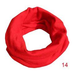 TM Cute Autumn Winter Soft Cotton Boys Girls Collar Baby Scarf O Ring Neck Scarves Fulltime