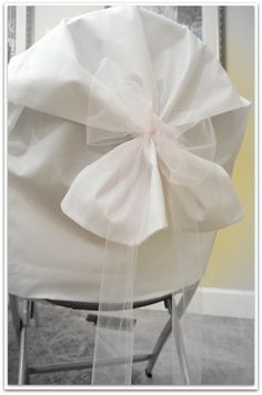 Use Pillowcases for Inexpensive Chair Covers for Wedding or Party |