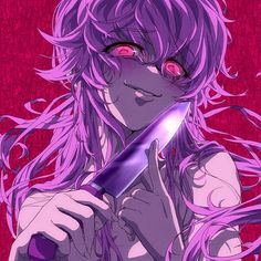 yuno gasai,qween of yandere Yandere Girl, Yandere Anime, Animes Yandere, Tsundere, Manga Anime, Anime Amor, Manga Art, Yuno Mirai Nikki, Mirai Nikki Future Diary