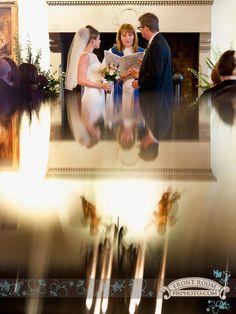 Jennifer & David durning their Villa Terrace  ceremony. Photo by: FRPhoto