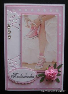 konfirmation Confirmation Cards, Cardmaking, Envelope, Cricut, Scrapbook, Denim, Tags, Frame, Inspiration