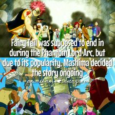 And we are all glad that the did. :) Anime Fact // Manga Fact // Fairy Tail Fact // Fairy Tail Zero // FairyTail