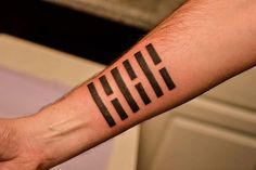 """My Snake-Eyes Ninja Clan Tattoo. It's an I-Ching Hexagram meaning """"Complete"""", but I got it because it's from G.I.Joe"""