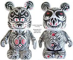 "Custom 9"" Vinylmation Pop Art Toy ""Tattoo"" by Howie Green"
