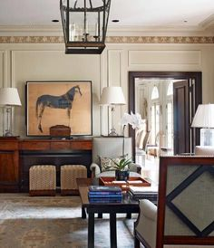 Paneled Family Room | Reviving a Georgian-Style Treasure in St. Louis - Traditional Home