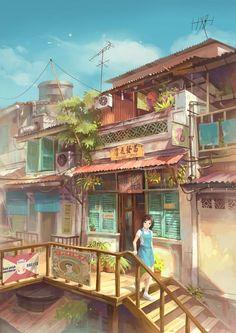 WIP Chong Fei Giap Scene in UE4 — polycount