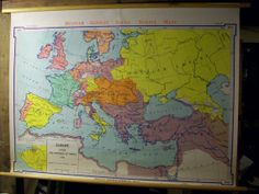Europe Vintage Wall Map  Europe after 1815 by Cellar1237 on Etsy, $125.00