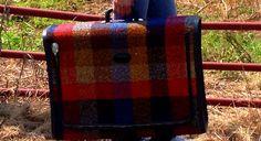 Vintage Skyway Plaid Tweed Luggage Suitcase