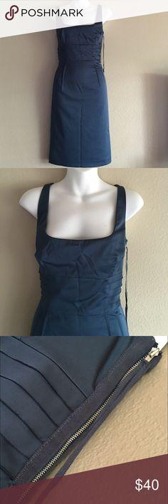 Ann Taylor Dress Ann Taylor bluish green dress features a zipper at the side of dress.  Size 8 Ann Taylor Dresses