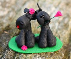 Giant Schnauzer Dog Clay Sculpture Gift by shakeyourbuttons, $57.50