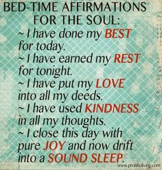 Rest is essential for vitality. Try these bedtime affirmations.