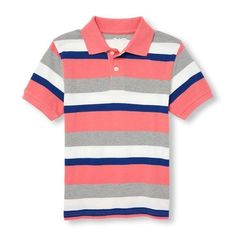 The Children's Place has the widest collection of boys tops & shirts. Shop at the PLACE where big fashion meets little prices! Polo Tee Shirts, Polo Shirt Style, Polo Shirt Women, Striped Polo Shirt, Fashion Hub, Big Fashion, Fabric Combinations, Casual Dresses For Women, Men's Polo