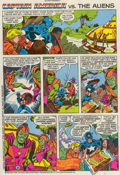 Captain America vs the Aliens Hostess Ad // Comic book advertising for Hostess Twinkies.